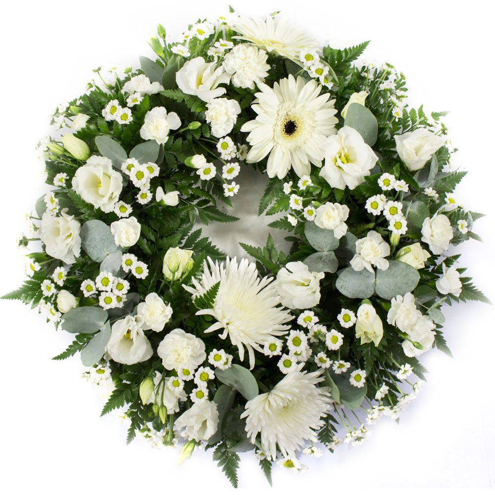 Classic Wreath in White -SYM-321